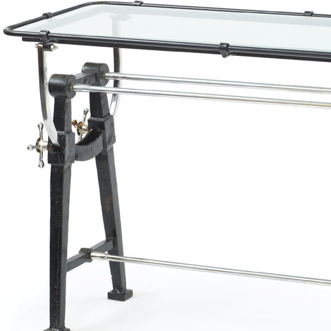 Iron & Glass Architect's Drafting Table
