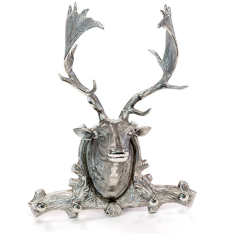Cabin Deer Head With Hooks