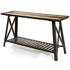 glass in kitchen cabinets reclaimed wood amp steel console table 15873