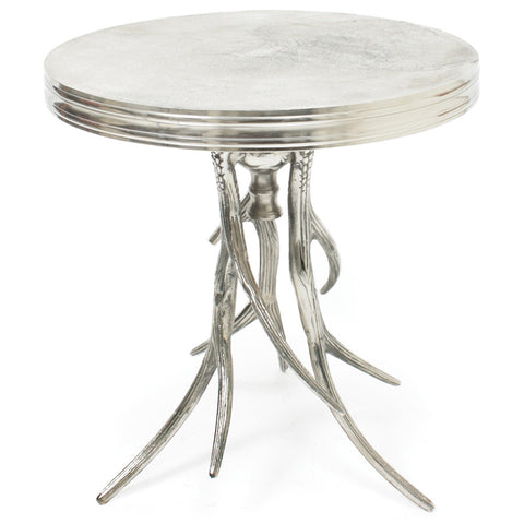 Aluminum Antler Side Table