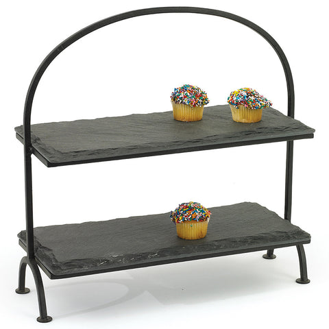 Tiered Slate Display Stand