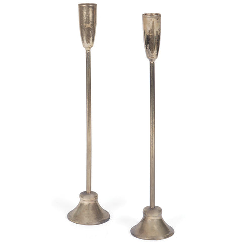 Brass Colonial Candlesticks (Set of 2)
