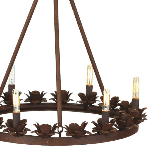 Rusted Rose Chandelier