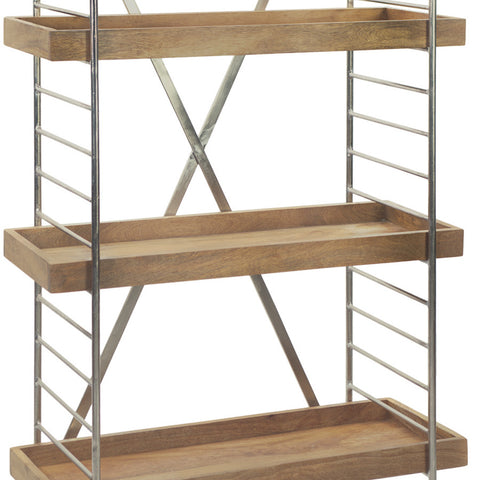 Nickel & Wood Modern Bookshelf