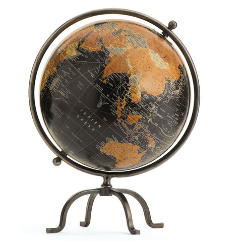 Black Iron Desk Globe