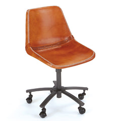 Racing Leather & Iron Desk Chair