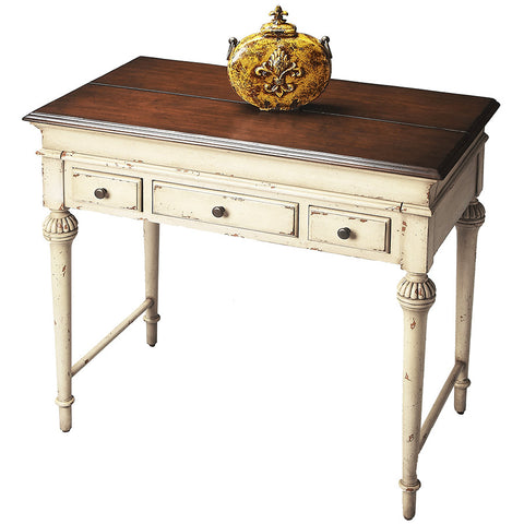 Antiqued Vanilla & Cherry Desk
