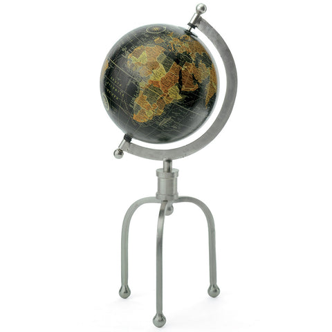 "15"" Tall Black & Iron Globe"