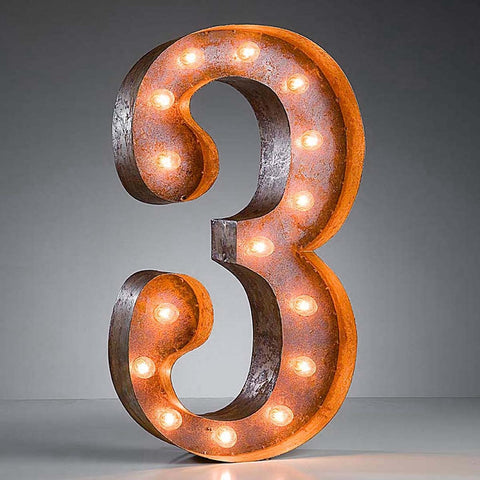 "Number 3 - 24"" Vintage Inspired Light"