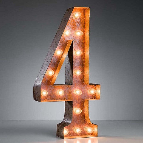"Number 4 - 24"" Vintage Inspired Light"