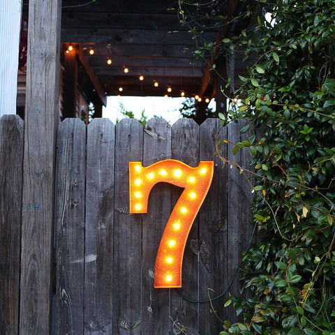 "Number 7 - 24"" Vintage Inspired Sign"