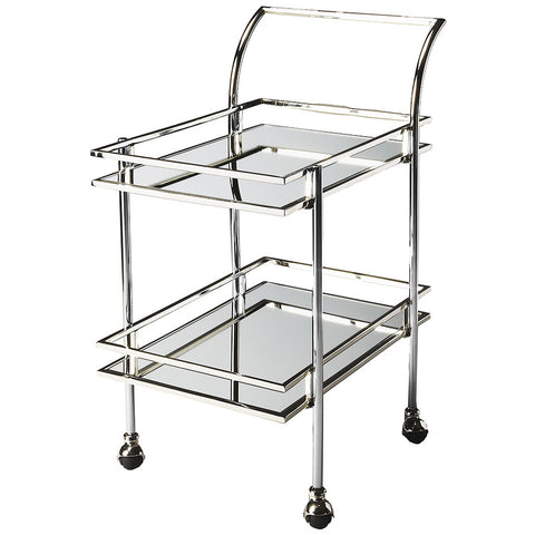 Retro Bar Cart, Nickel