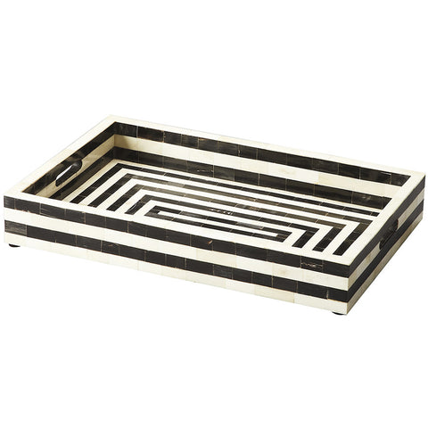 Black & White Bone Serving Tray