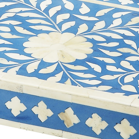 Blue & White Bone Serving Tray