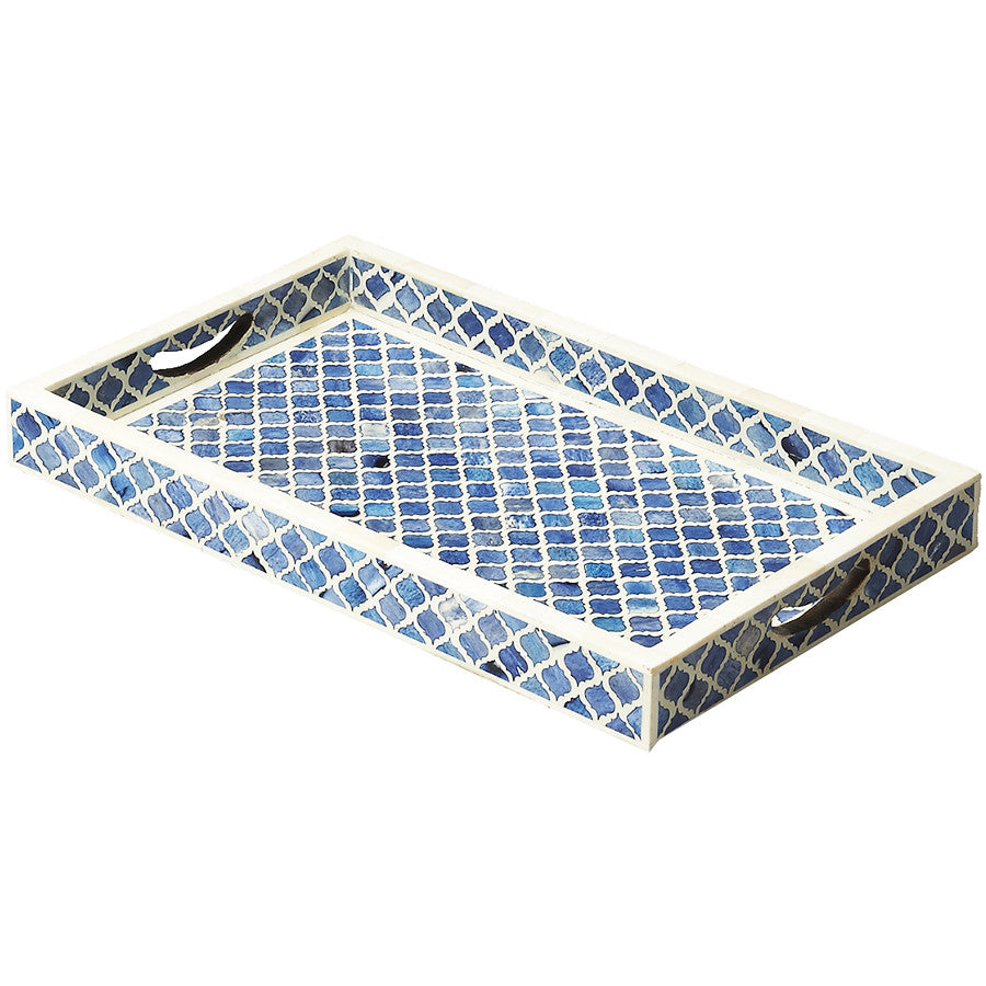 Blue Amp White Moroccan Serving Tray