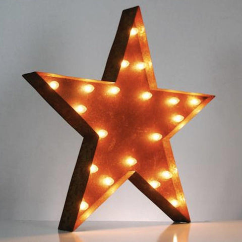 "Star 36"" Vintage Inspired Light"