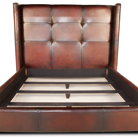 Bardot Leather Handmade Bed Frame