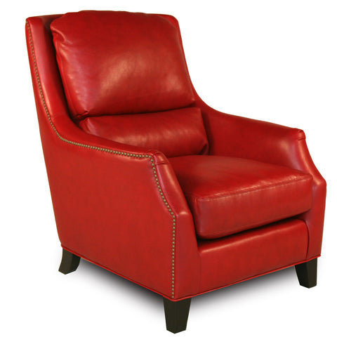 Red Pepper Handmade Leather Accent Chair