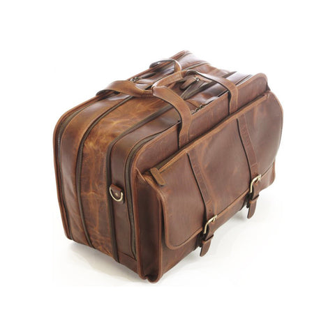 Oliver Expandable Brown Leather Briefcase