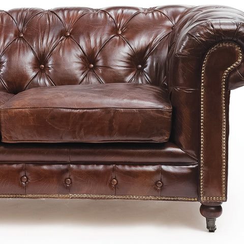Vintage London Leather Sofa
