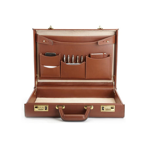 "Monroe Attaché Briefcase, 4.25"" Wide"