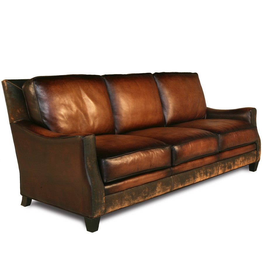 Handmade Brown Leather Sofa ~ Brown Leather Sofa With Studs