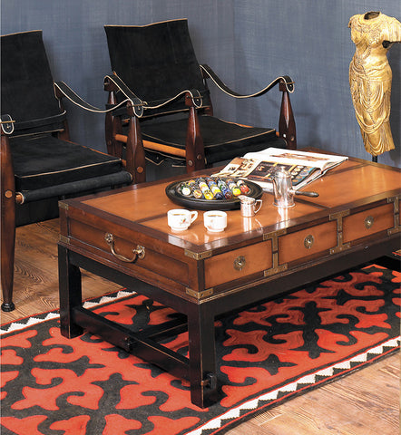 Campaign Room Coffee Table, French Honey