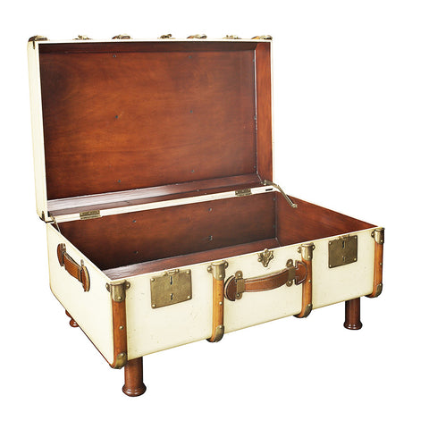 Coffee Table Trunk, Ivory