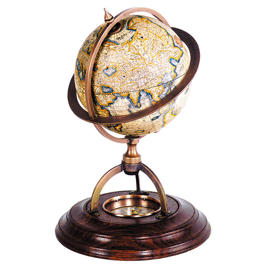 Desktop Globe With Compass Desk Accessories Office