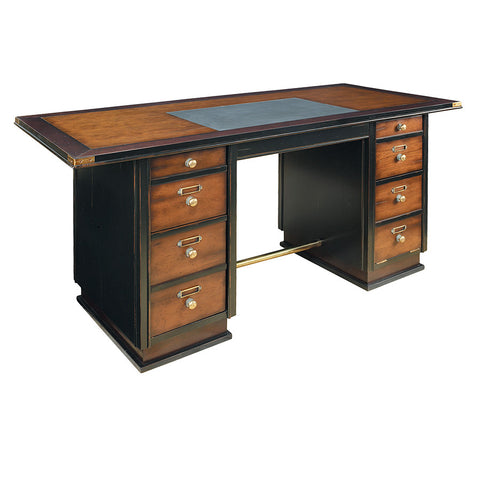 Seafarer's Small Desk, Black & Honey
