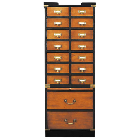 Collector's Letter Box Cabinet with Drawers