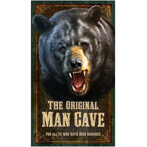 Man Cave Bear - Vintage Sign