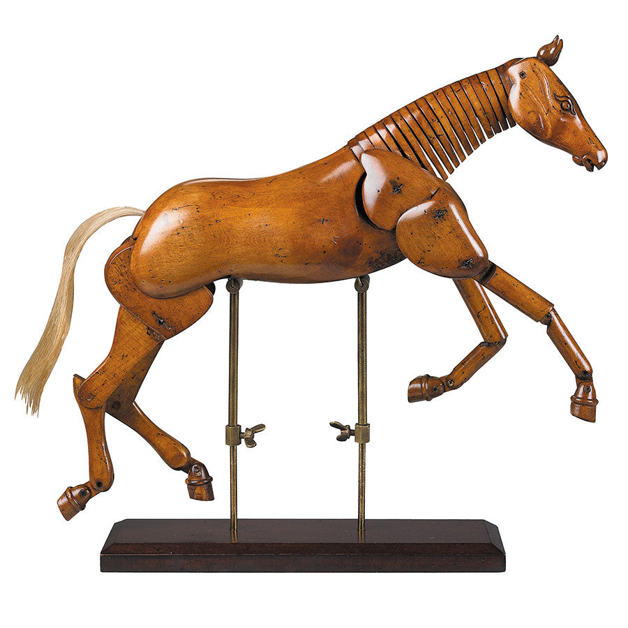 Very Renaissance Era Wooden Horse Sculpture, Large | Wood Horse RY94