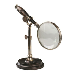Detachable Magnifying Glass with Hands-Free Brass Stand