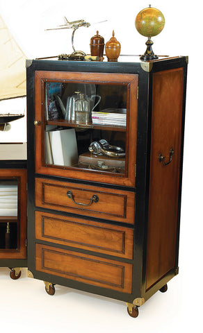 Black Honey Media Cabinet, Tall