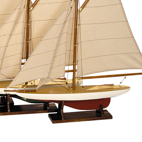 Set of 4 Model Sailboats