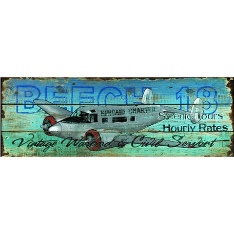 Beech 18 Aircraft - Vintage Sign