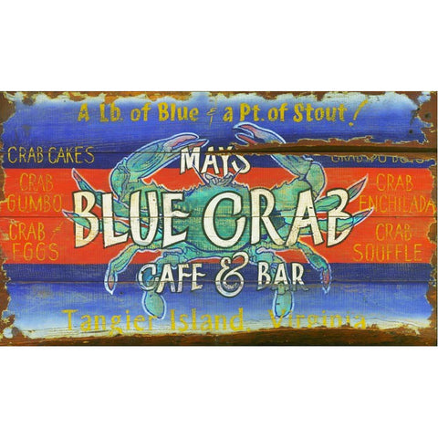 Blue Crab Café & Bar – Vintage Sign