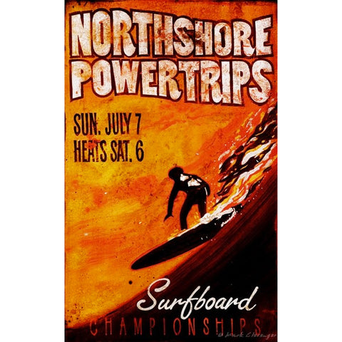 North Shore Surfboard - Vintage Signs