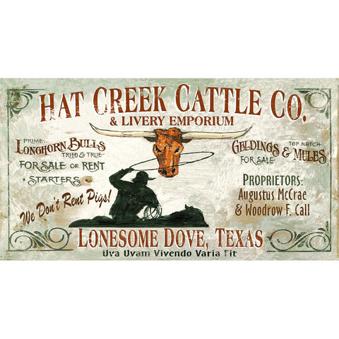 Hat Creek Cattle Co. - Vintage Sign