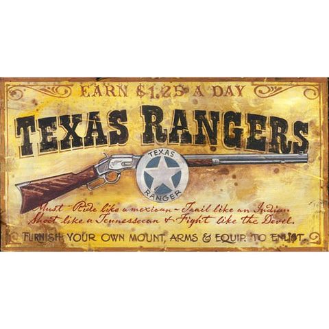 Texas Rangers - Vintage Sign