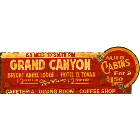 Grand Canyon Cabins - Vintage Sign