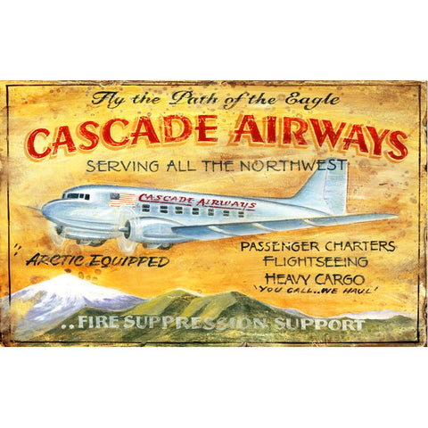 DC-3 Cascade Airways - Vintage Sign
