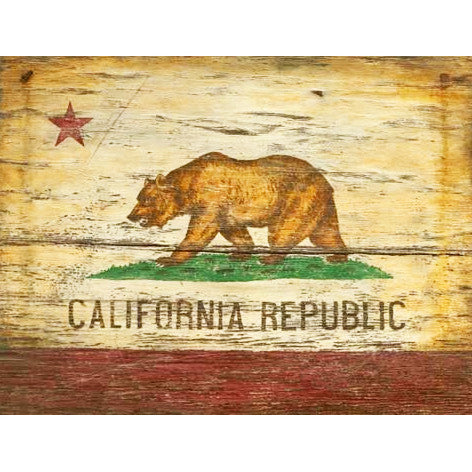 Monarch the Grizzly California State Flag – Vintage Sign