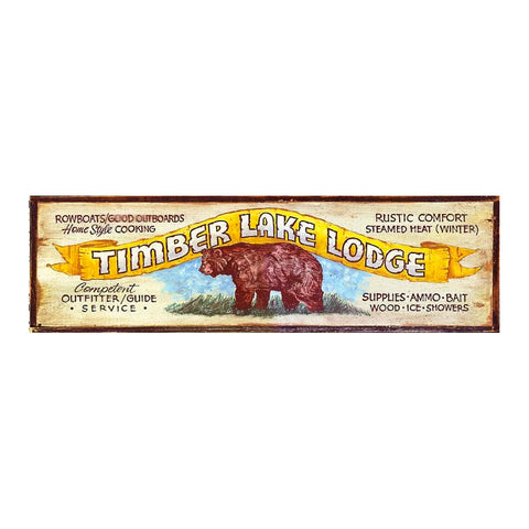 Timber Lake Lodge Sign