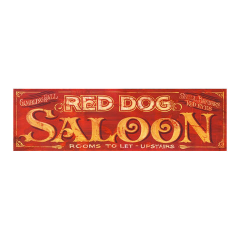 Red Dog Saloon Vintage Sign