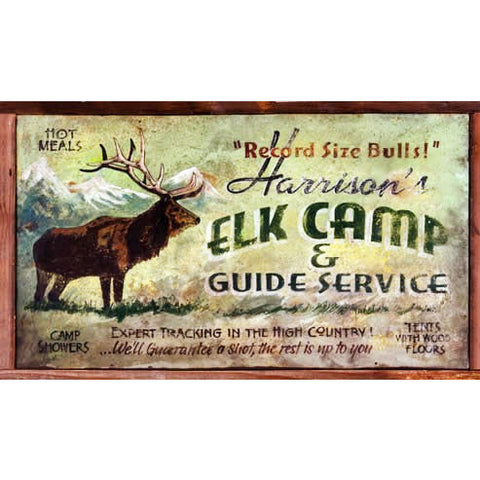 Harrison's Elk Camp — Vintage Sign