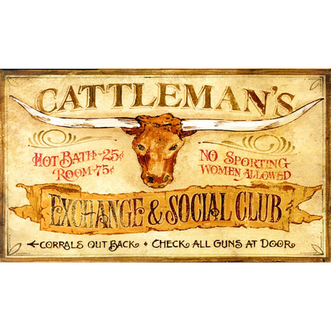 Cattleman's Social Club - Vintage Sign