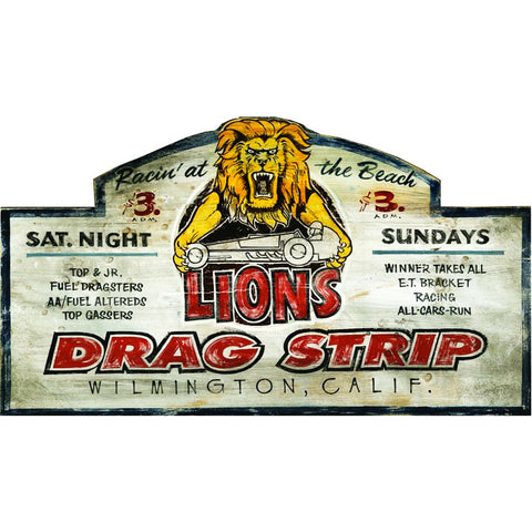 California Lions Drag Strip - Vintage Sign