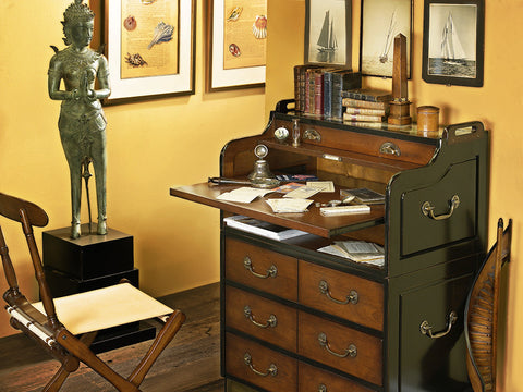 Aged Reproduction Secretary Desk